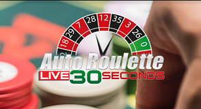 Auto Roulette Live 30 seconds